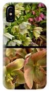 Lenten Rose Collage IPhone Case