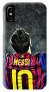 Leo Messi Poster Art IPhone Case