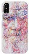 Leo Tolstoy/ Colored Pens Portrait IPhone Case