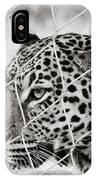 Leopard Black And White Photography IPhone Case
