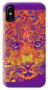 Leopard Eyes Orange IPhone Case