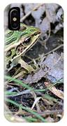 Leopard Frog And Leaf Litter IPhone X Case