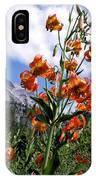 Leopard Lilies Below Lassen Peak IPhone Case