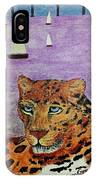 Leopard On The Water IPhone Case
