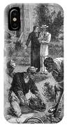 Lepers On The Island Of  Reunion Work IPhone Case