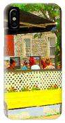 Les Folies De Montreal Cafe Resto Lounge Paris Style Bistro City Scene Carole Spandau IPhone Case