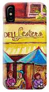 Lester's Deli Montreal Smoked Meat Paris Style French Cafe Paintings Carole Spandau IPhone Case