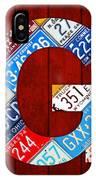 Letter G Alphabet Vintage License Plate Art IPhone Case