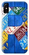 Letter R Alphabet Vintage License Plate Art IPhone Case