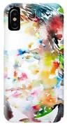 Lewis Carroll - Watercolor Portrait IPhone Case