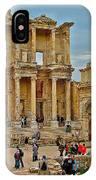 Library Of Celsus In Ephesus-turkey IPhone Case
