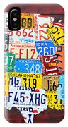 License Plate Art Map Of The Usa Edition 14 By Design Turnpike IPhone Case