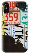 License Plate Map Of Australia IPhone Case