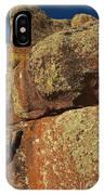 Lichen On Boulders IPhone Case