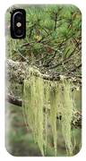 Lichens On Tree Branches In The Scottish Highlands IPhone Case