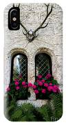 Lichtenstein Castle Windows Wall And Antlers - Germany IPhone Case