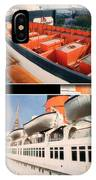 Life Boats Collage Queen Mary Ocean Liner Long Beach Ca IPhone Case