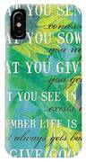 Life Is An Echo IPhone Case