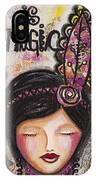 Life Is Magic Uplifting Collage Painting IPhone Case