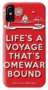 Life Voyage Red IPhone Case