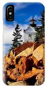 Light At Bass Harbor IPhone Case