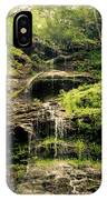 light flow at Cathedral Falls IPhone Case