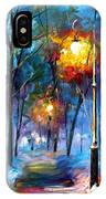 Light Of Luck - Palette Knife Oil Painting On Canvas By Leonid Afremov IPhone Case