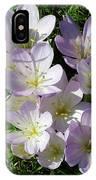 Light Purple Crocus Flowers In Spring IPhone Case
