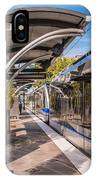 Light Rail Train System In Downtown Charlotte Nc IPhone Case