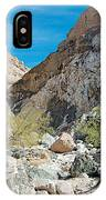 Light Side And Dark Side In Big Painted Canyon In Mecca Hills-ca IPhone Case