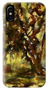 Light Through The Moss Tree Landscape Painting IPhone Case