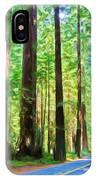 Light Through The Redwoods IPhone Case