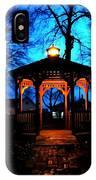 Lighted Gazebo Sunset Park IPhone Case