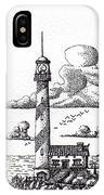 Lighthouse On A Cliff Bookmark IPhone Case