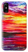 Lighthouse - Palette Knife Oil Painting On Canvas By Leonid Afremov IPhone Case