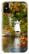 Lighthouse Through The Leaves IPhone Case