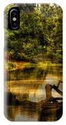 Lightning Strike By The Nature Center Merged Image IPhone Case