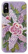 Lilac And Rose Bouquet IPhone Case