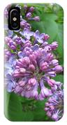 Lilac Buds And Blossoms IPhone Case