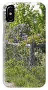 Lilac Fence I IPhone Case