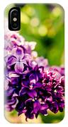 Lilac Festival IPhone Case