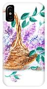 Lilac Vintage Impressionism Painting IPhone Case