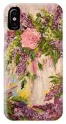 Lilacs And Peony IPhone X Case