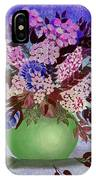 Lilacs And Queen Anne's Lace In Pink And Purple IPhone Case