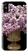 Lilacs In A Green Vase - Flowers - Spring Bouquet IPhone Case