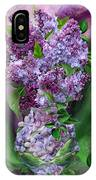 Lilacs In Lilac Vase IPhone Case