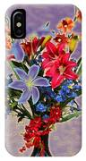 Lilies And Orchids Topaz II IPhone Case
