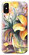 Lilies In A Vase IPhone Case