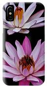 Lilies In Black IPhone Case