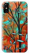 Lilly Pulitzer Inspired Abstract Art Colorful Original Painting Spring Blossoms By Madart IPhone Case